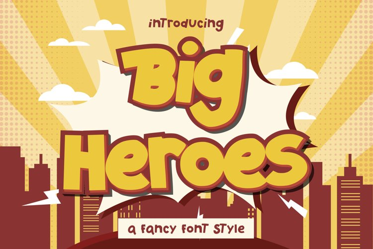 Big Heroes - Fancy Font Style example image 1