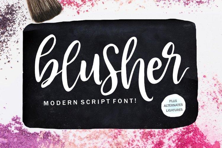 Blusher Script example image 1