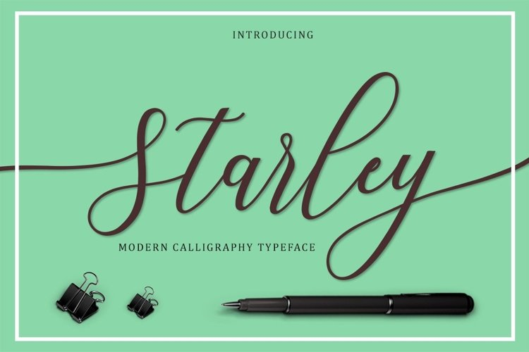 Web Font Starley Script example image 1