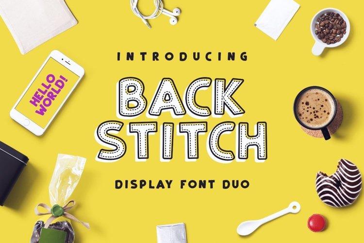 Web Font Back Stitch example image 1