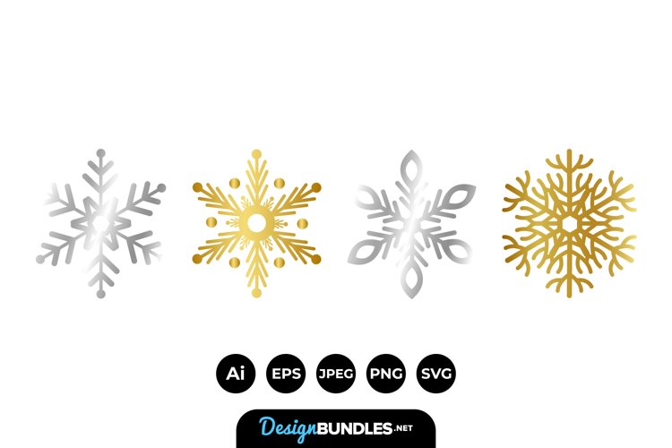 Gold and Silver Snowflakes example image 1