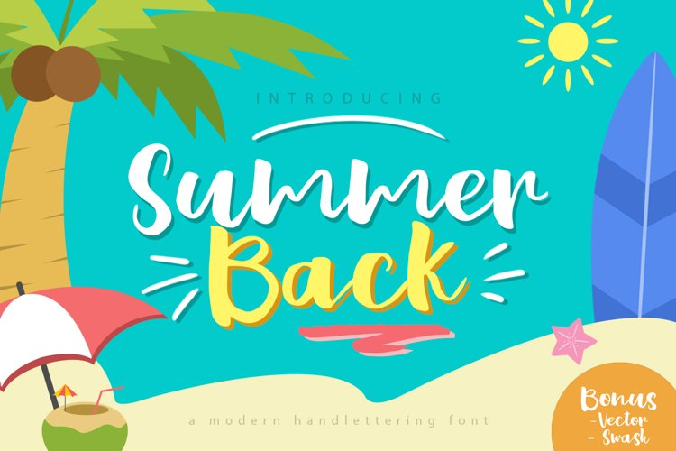 Summer Back Script example image 1