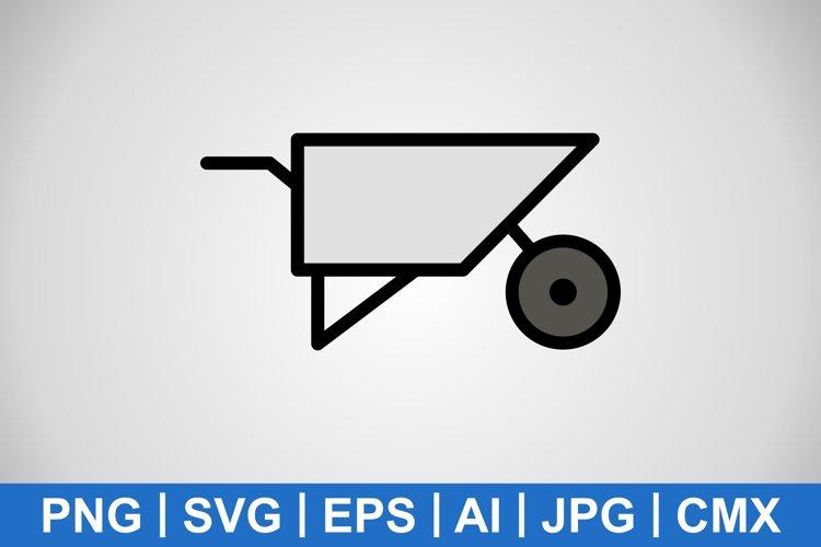 Vector Wheelbarrow Icon example image 1