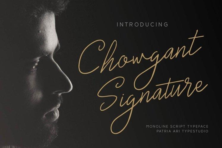 Chowgant Signature example image 1