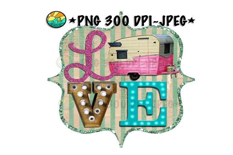 LOVE - Camper - PNG for Sublimation