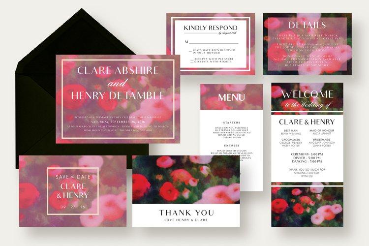Garden Wedding Invitation Suite example image 1