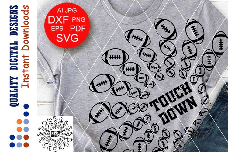 Mandala American football clip art SVG files for Cricut