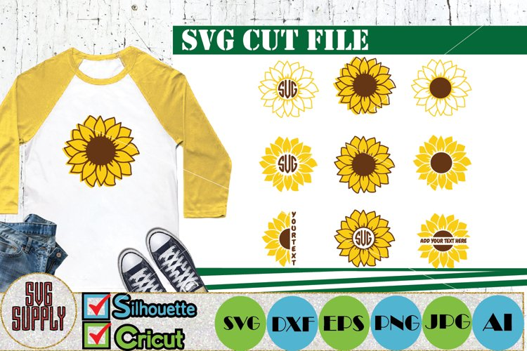 Sunflower SVG Cut File Bundle