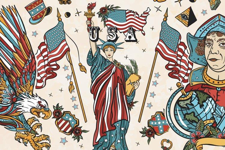 USA old school tattoo
