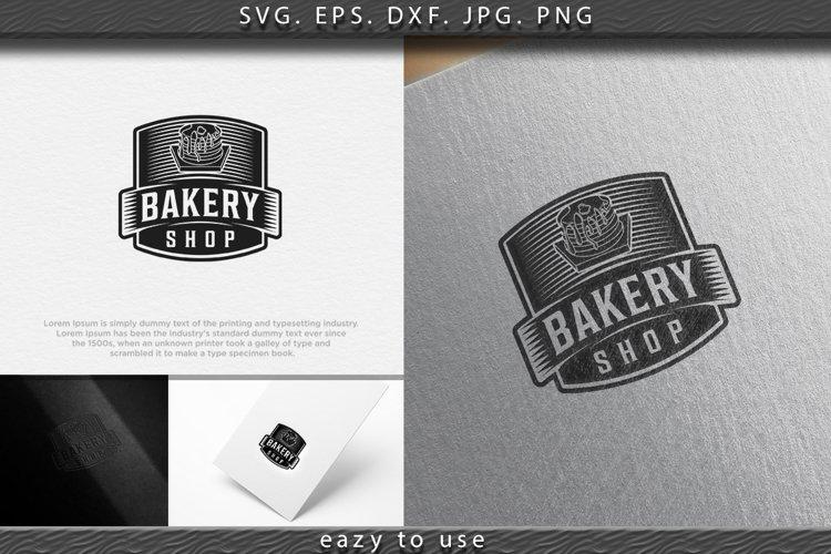 pancake, vintage bakery logo Ideas. Inspiration logo design. example image 1