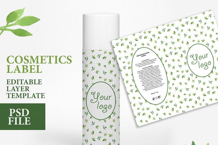 Cosmetic label soap design custom soap editable layer PSD