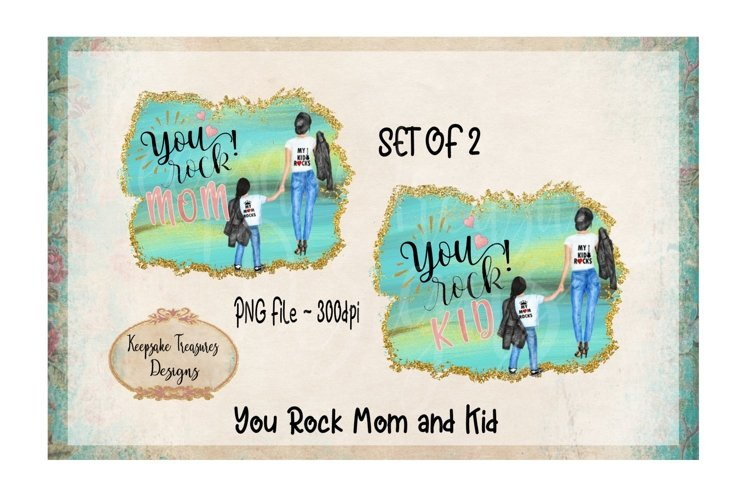 You Rock Mom and Kid Set of 2 example image 1