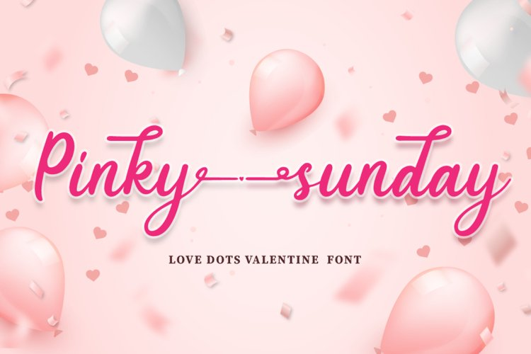 Pinky Sunday - Script Font example image 1
