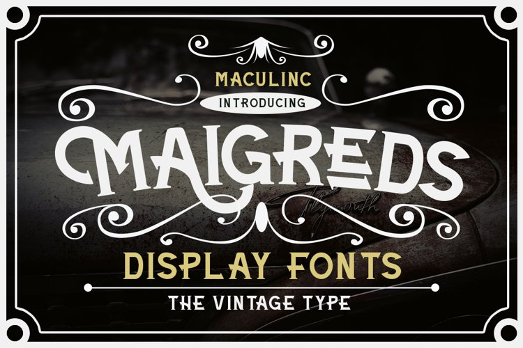 Maigreds Display Font example image 1