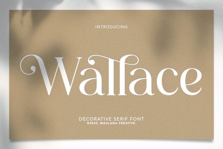 Wallace - Decorative Serif Font example image 1