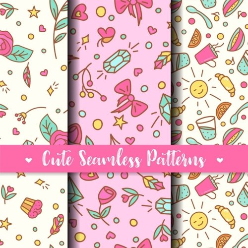 Cute Seamless Patterns. Prints for kids products