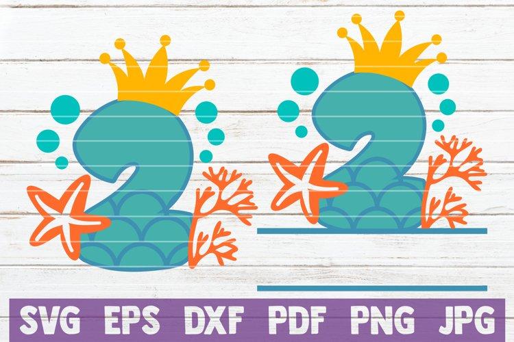 Mermaid Birthday No 2 SVG Cut File example image 1