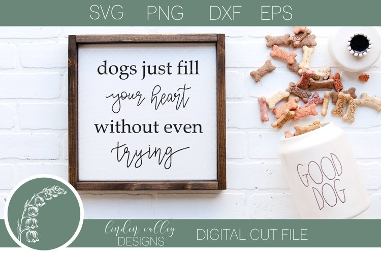 Dogs Fill Your Heart SVG|Animal Lover SVG|Dog SVG example image 1