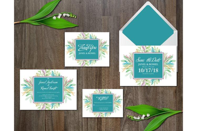 Watercolor Flower Wedding Suite