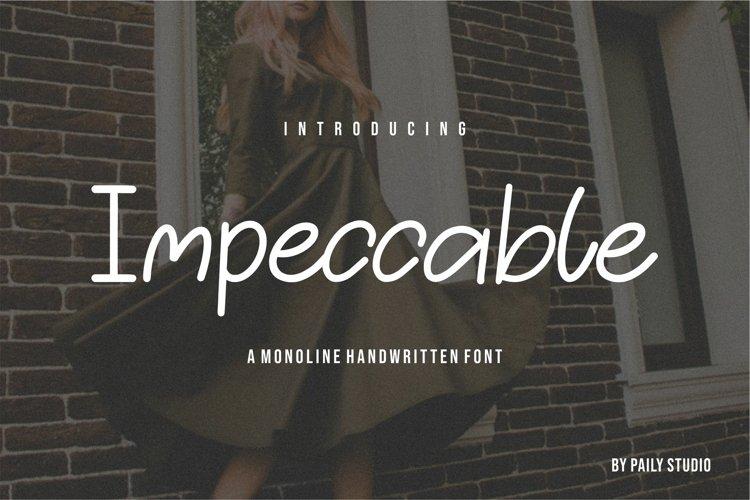 Impeccable Monoline Handwritten Font example image 1
