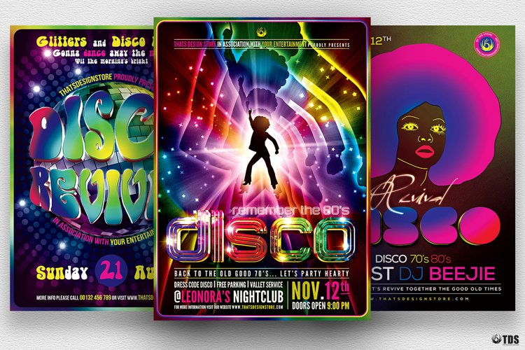 Disco Music Flyer Bundle V2