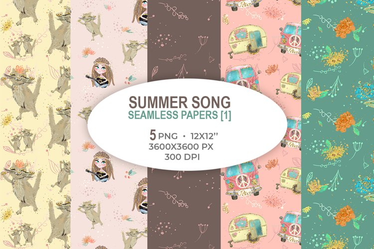 Summer Song seamless papers 1