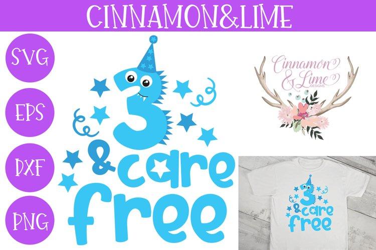 Third Birthday Monster SVG Cut File