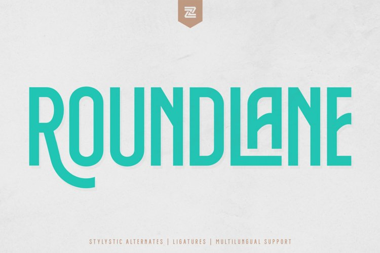 ROUNDLANE - MULTI PURPOSE DISPLAY FONT example image 1