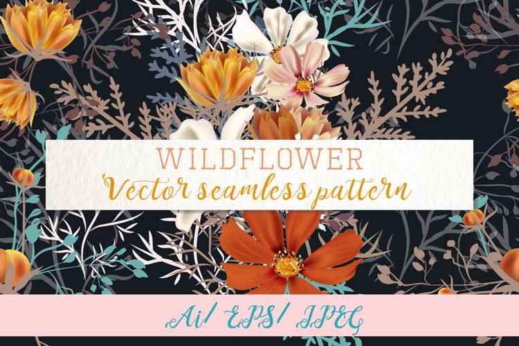 Wild field, vector seamless pattern 1 example image 1
