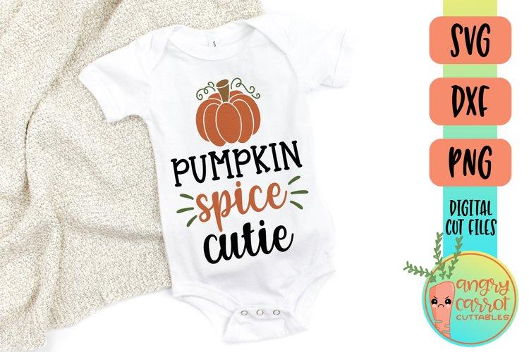 Pumpkin Spice Cutie SVG | Fall Kids SVG example image 1