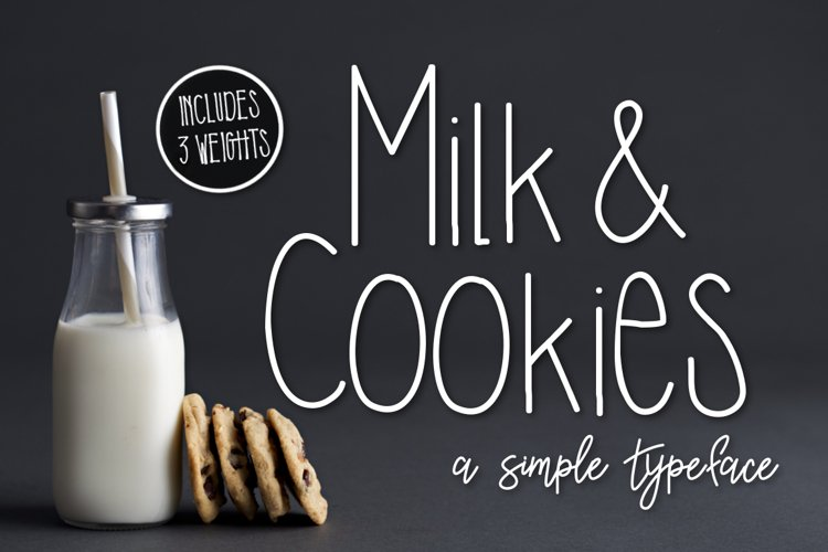Milk & Cookies a Simple Typeface example image 1