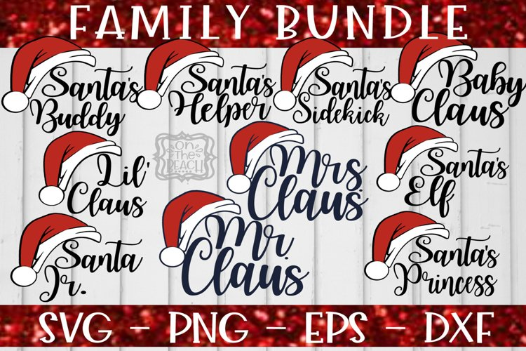 Christmas Bundle - Family Bundle - The Claus Family SVG example image 1