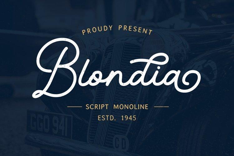Blondia - Monoline Script example image 1