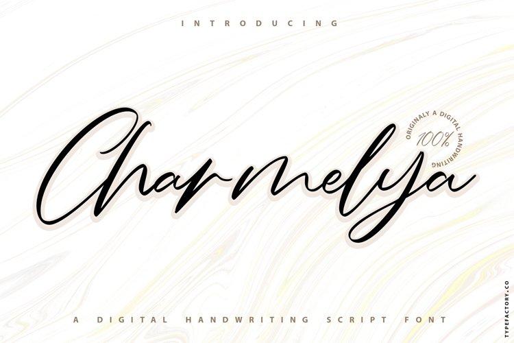 Charmelya - Handwriting script font example image 1