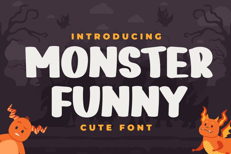 Monster Funny - Cute Display Font example image 1