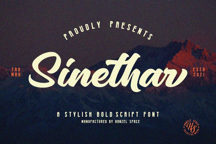 Sinethar - Bold Script example image 1