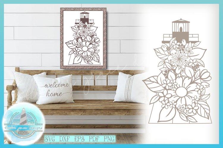 Lighthouse Floral Mandala Zentangle SVG   Nautical Cut File