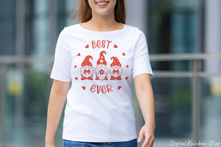Mothers day svg, Mom SVG, Gnome Mom, best mom ever, gnomes example 2