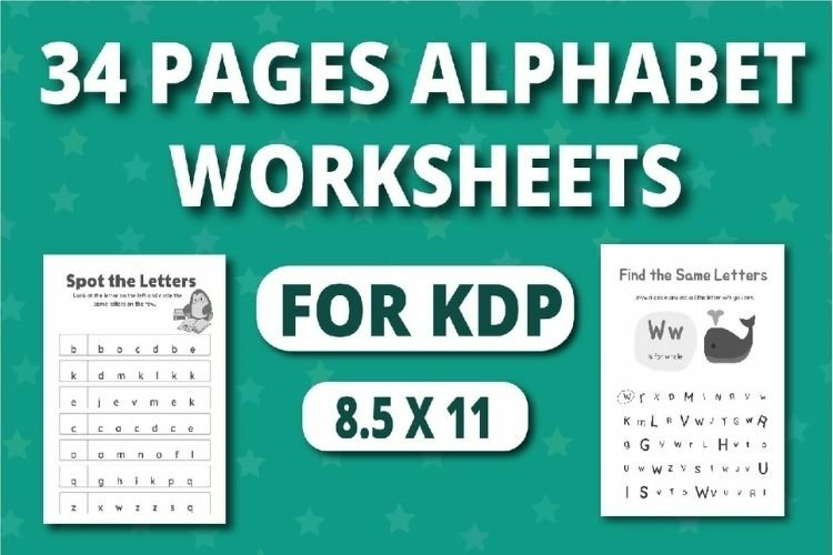 Alphabet and worksheets spot and find the same leters