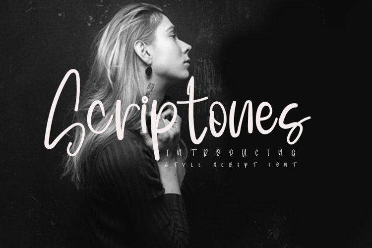 Scriptones | A Modern Script Font example image 1