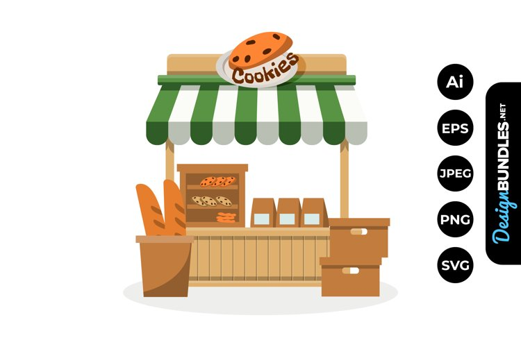 Cookies Stall Market Illustrations example image 1