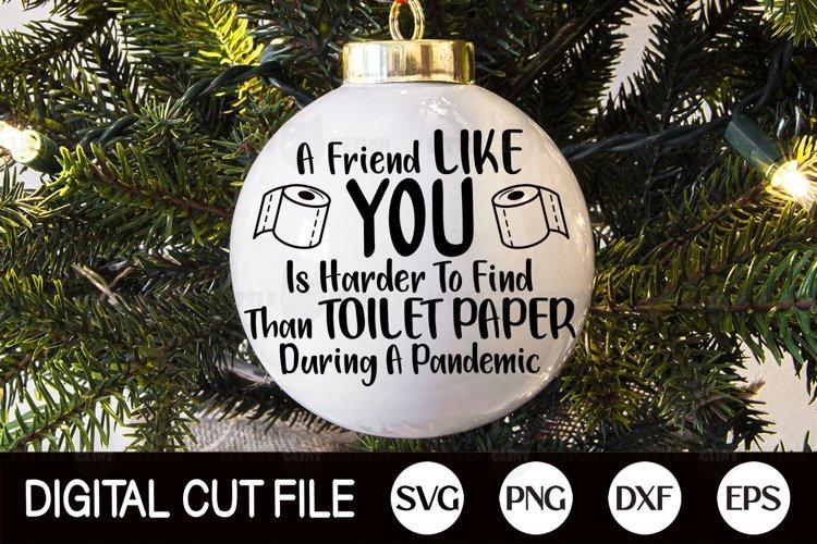Toilet Paper Christmas Ornament SVG, Quarantine Arabesque example image 1