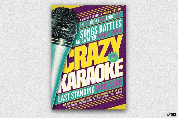 Karaoke Flyer Template V7 example image 1