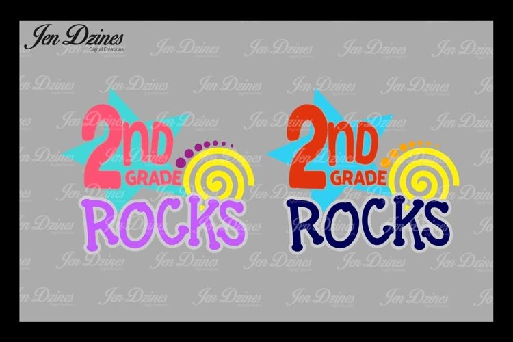 Second Grade Rocks SVG DXF EPS PNG example image 1