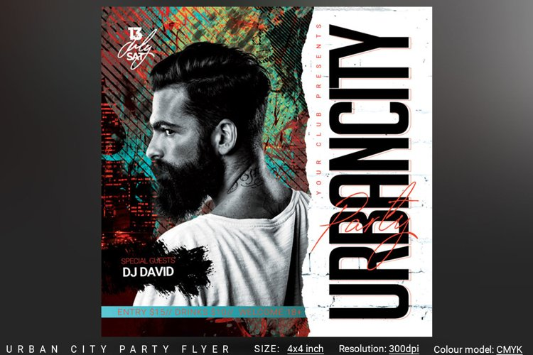 Urban City Party Flyer example image 1