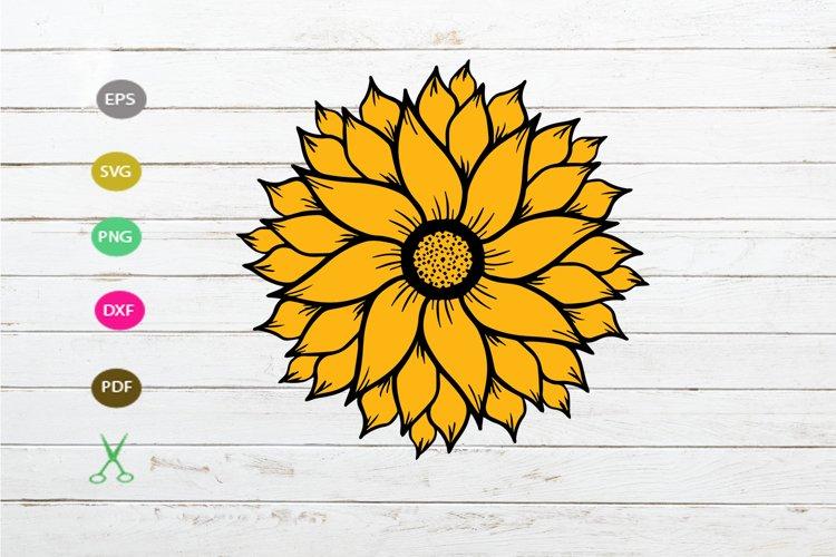 sunflower svg ,sunflower cut file design,sunflower design example image 1