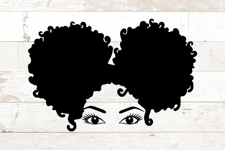 Afro women svg - African American - Black Woman afro puffs