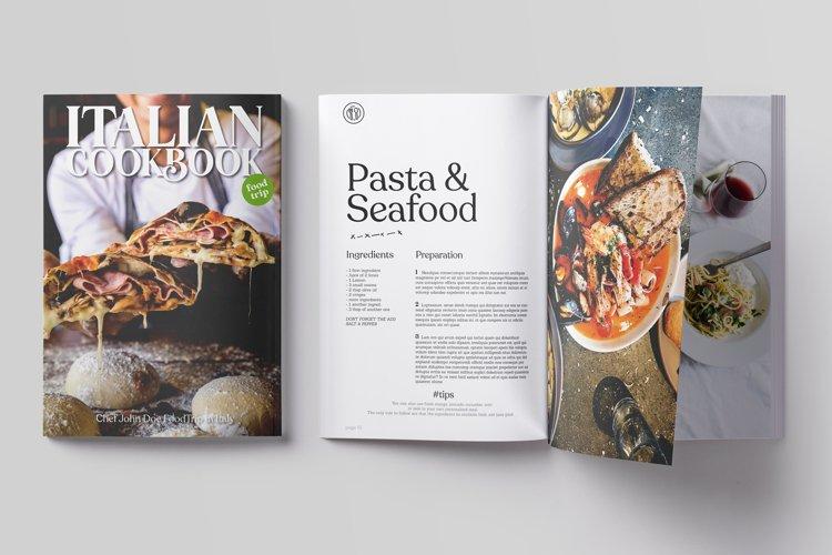 Italian CookBook Magazine Template