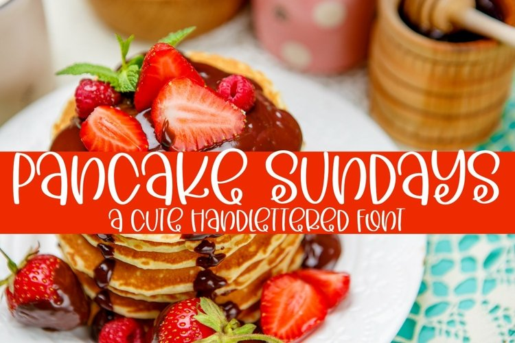 Web Font Pancake Sundays - A Cute Hand-Lettered Font example image 1