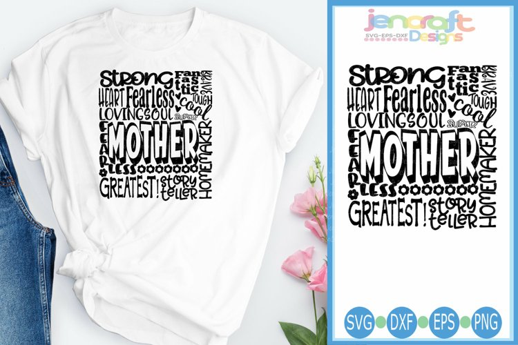 Mother SVG, Mothers Day SVG, typography word art Svg, Eps